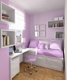 Delicate Tiny Bedroom Decor Ideas For Teens28