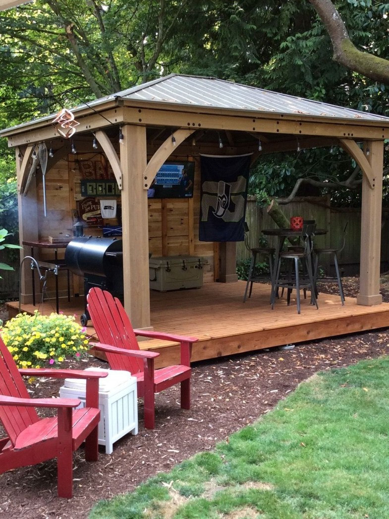 Gorgeous Backyard Gazebo Design Ideas You Must Have23