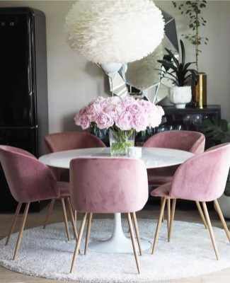 Luxury Feminime Dining Room Design Ideas To Try Asap06