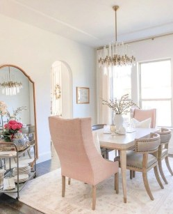 Luxury Feminime Dining Room Design Ideas To Try Asap50
