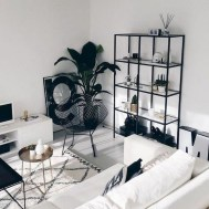 Adorable Black Living Room Ideas That Looks Cool01