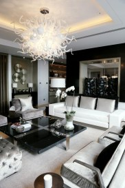Adorable Black Living Room Ideas That Looks Cool02