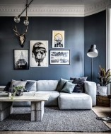 Adorable Black Living Room Ideas That Looks Cool03