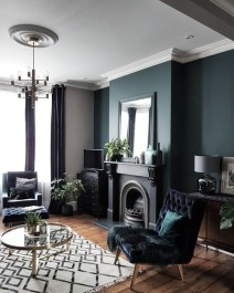 Adorable Black Living Room Ideas That Looks Cool05