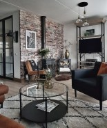 Adorable Black Living Room Ideas That Looks Cool30