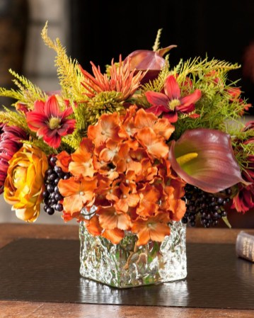 Brilliant Faux Flower Fall Arrangements Ideas For Indoors36