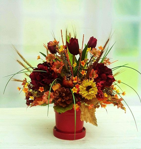Brilliant Faux Flower Fall Arrangements Ideas For Indoors46