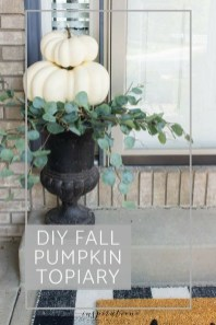 Excellent Diy Fall Pumpkin Topiary Ideas For Home Décor05