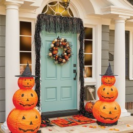 Excellent Diy Fall Pumpkin Topiary Ideas For Home Décor12