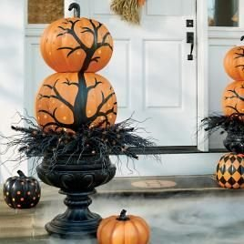 Excellent Diy Fall Pumpkin Topiary Ideas For Home Décor23