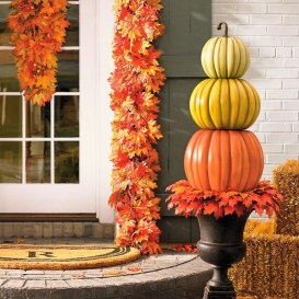 Excellent Diy Fall Pumpkin Topiary Ideas For Home Décor29