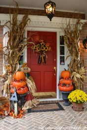 Excellent Diy Fall Pumpkin Topiary Ideas For Home Décor35