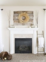 Wonderful Fireplace Makeover Ideas For Fall Home Décor16