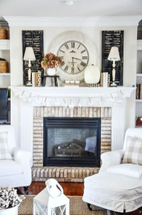 Wonderful Fireplace Makeover Ideas For Fall Home Décor31