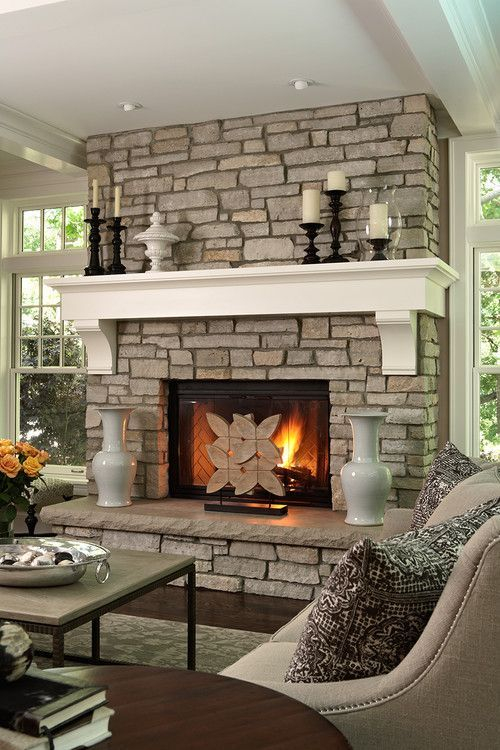Wonderful Fireplace Makeover Ideas For Fall Home Décor41