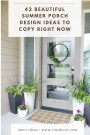 42 Beautiful Summer Porch Design Ideas To Copy Right Now