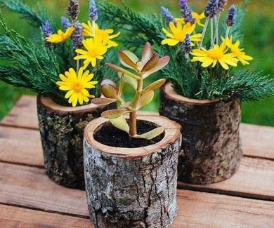 Attractive Diy Logs Ideas For Summer Garden To Try Right Now23