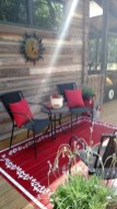 Unusual Painted Rug Design Ideas For Relaxing Screened Porch26
