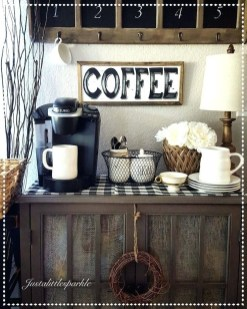 Best Home Coffee Bar Design Ideas You Must Have In Your House13