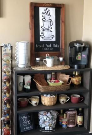 Best Home Coffee Bar Design Ideas You Must Have In Your House25