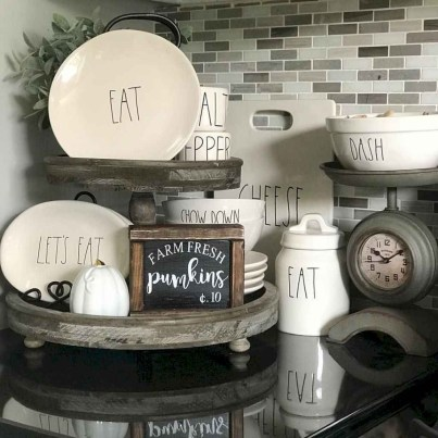 Newest Rae Dunn Display Design Ideas To Make Beautiful Decor In Your Home38