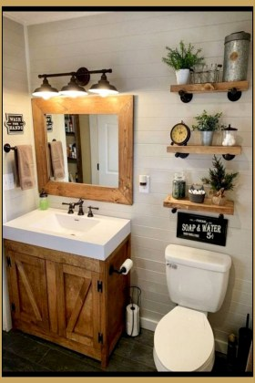 Trendy Farmhouse Bathroom Design Ideas To Try Right Now07