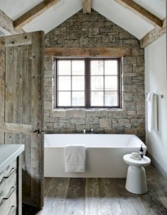 Trendy Farmhouse Bathroom Design Ideas To Try Right Now20