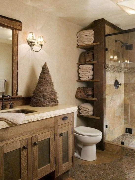 Trendy Farmhouse Bathroom Design Ideas To Try Right Now33