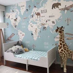 Awesome Kids Bedroom Wall Decorations Ideas That Will Make Fun Your Kids Room01