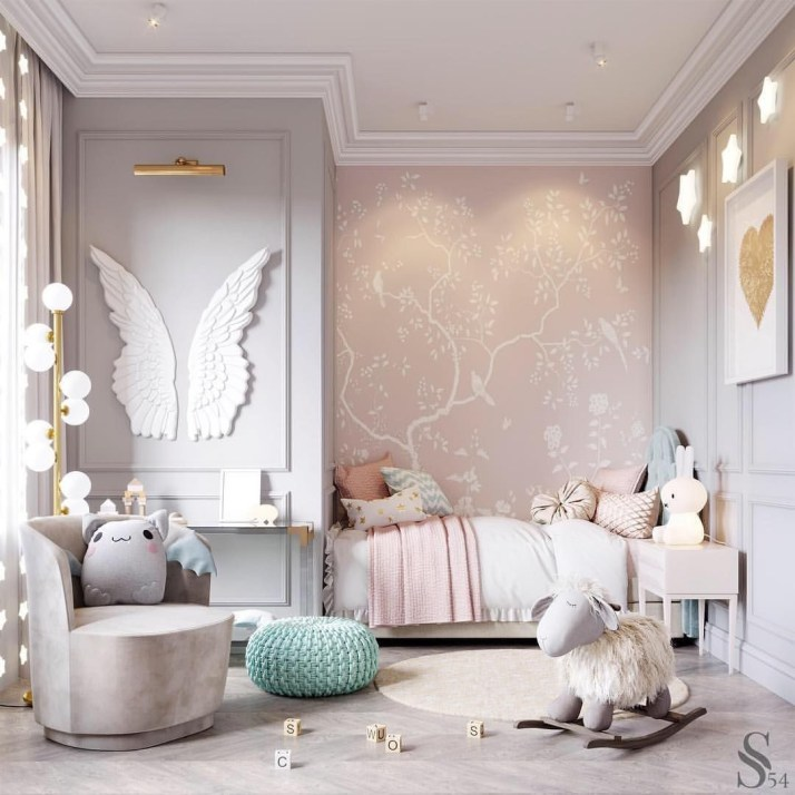 Awesome Kids Bedroom Wall Decorations Ideas That Will Make Fun Your Kids Room14