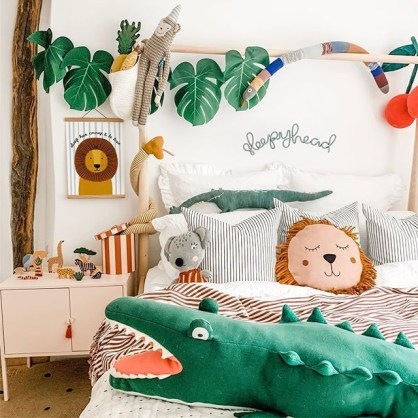Awesome Kids Bedroom Wall Decorations Ideas That Will Make Fun Your Kids Room16