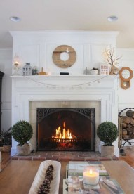Awesome Winter Home Decoration Design Ideas With Unique Fireplace03