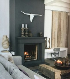 Awesome Winter Home Decoration Design Ideas With Unique Fireplace04