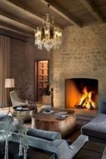 Awesome Winter Home Decoration Design Ideas With Unique Fireplace13