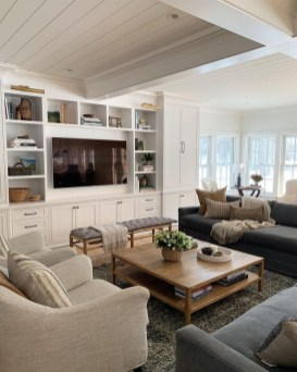 Impressive Family Room Designs Ideas That Looks So Cute27