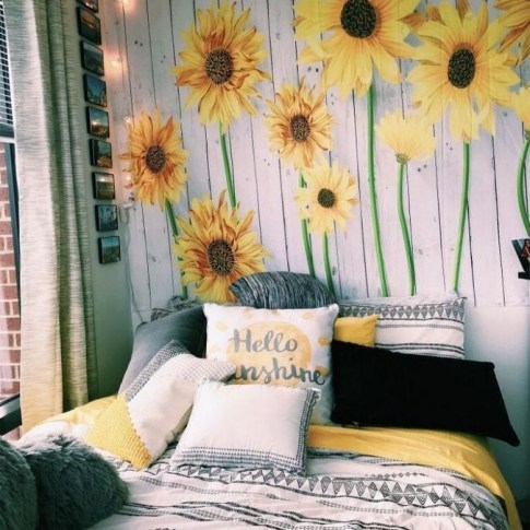 Latest Diy Sunflower Bedroom Decoration Ideas To Try Asap34