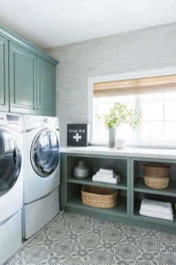 Cozy Laundry Room Tile Pattern Design Ideas To Try Asap16