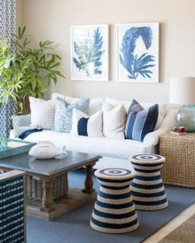 Pretty Coastal Living Room Decor Ideas That Looks Awesome13