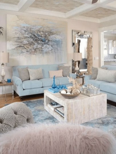 Pretty Coastal Living Room Decor Ideas That Looks Awesome22