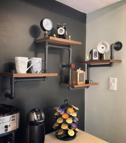 Stunning Diy Pipe Shelves Design Ideas That Looks Awesome07