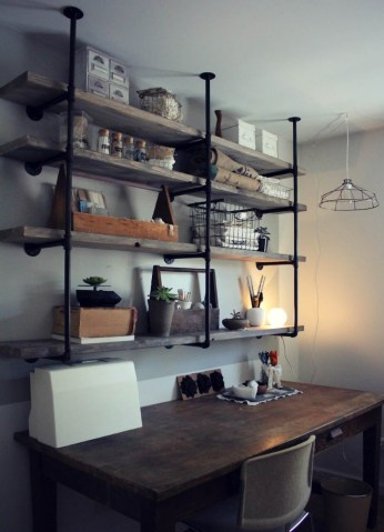Stunning Diy Pipe Shelves Design Ideas That Looks Awesome08