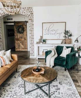 Top Farmhouse Style Living Room Decor Ideas That Looks Adorable24