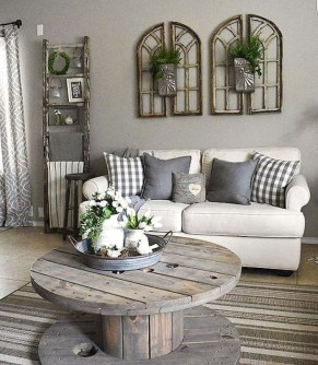 Top Farmhouse Style Living Room Decor Ideas That Looks Adorable26