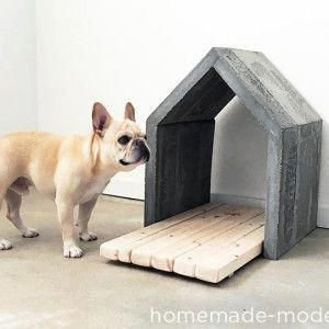 Captivating Plywood Dog House Design Ideas With Fishbone To Insoire You01