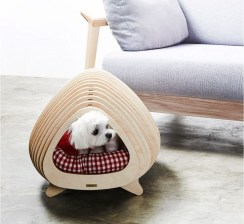Captivating Plywood Dog House Design Ideas With Fishbone To Insoire You14