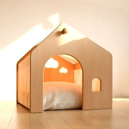 Captivating Plywood Dog House Design Ideas With Fishbone To Insoire You20