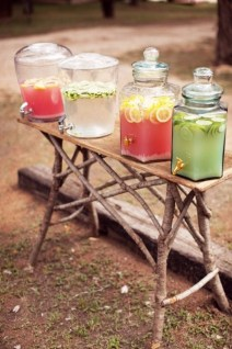 Chic Outdoor Wedding Drink Station And Bar Ideas For Winter To Try Asap13