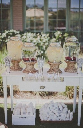 Chic Outdoor Wedding Drink Station And Bar Ideas For Winter To Try Asap17
