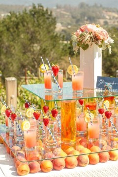 Chic Outdoor Wedding Drink Station And Bar Ideas For Winter To Try Asap27