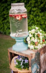 Chic Outdoor Wedding Drink Station And Bar Ideas For Winter To Try Asap28